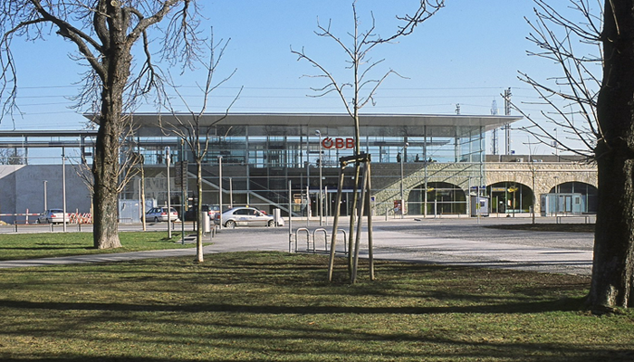 Bahnhof Baden vom Vorplatz aus